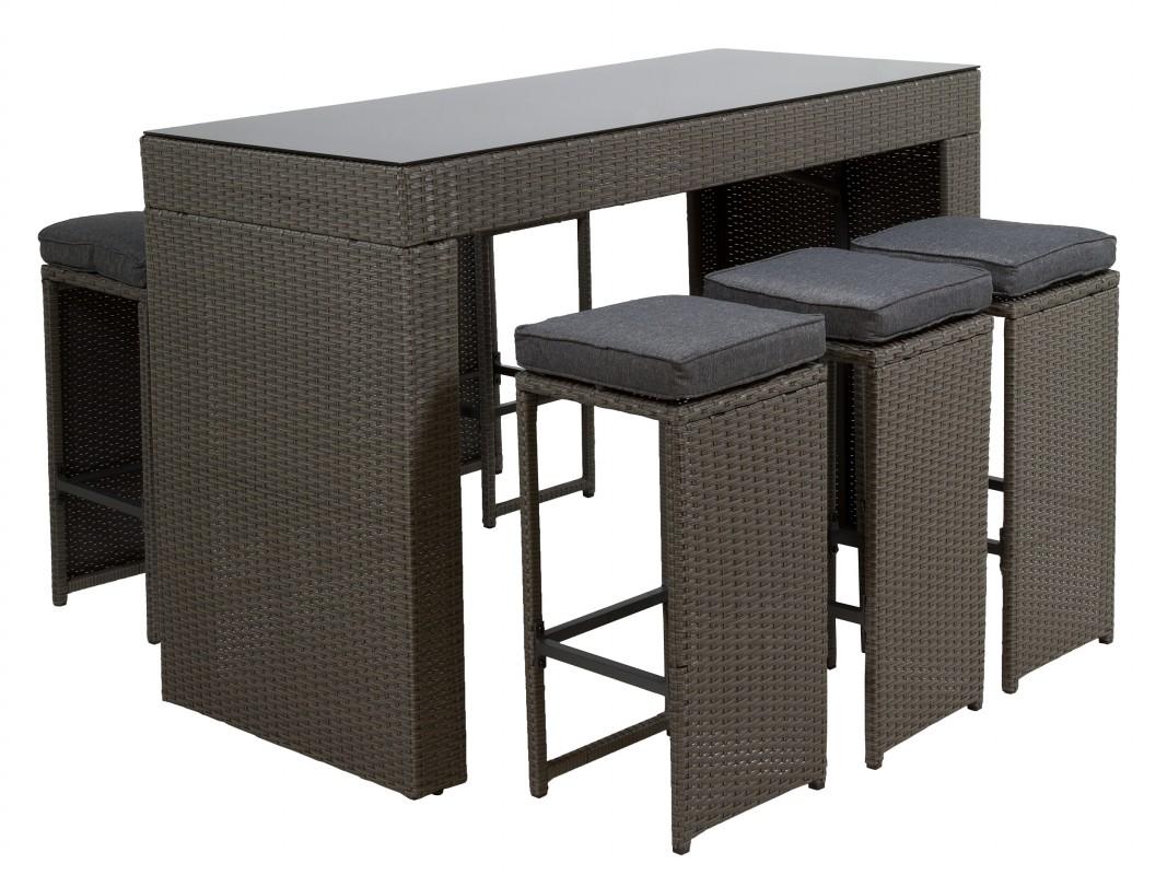 Mesa y taburetes altos para terraza y jard n conjunto bar - Mesa para terraza ...