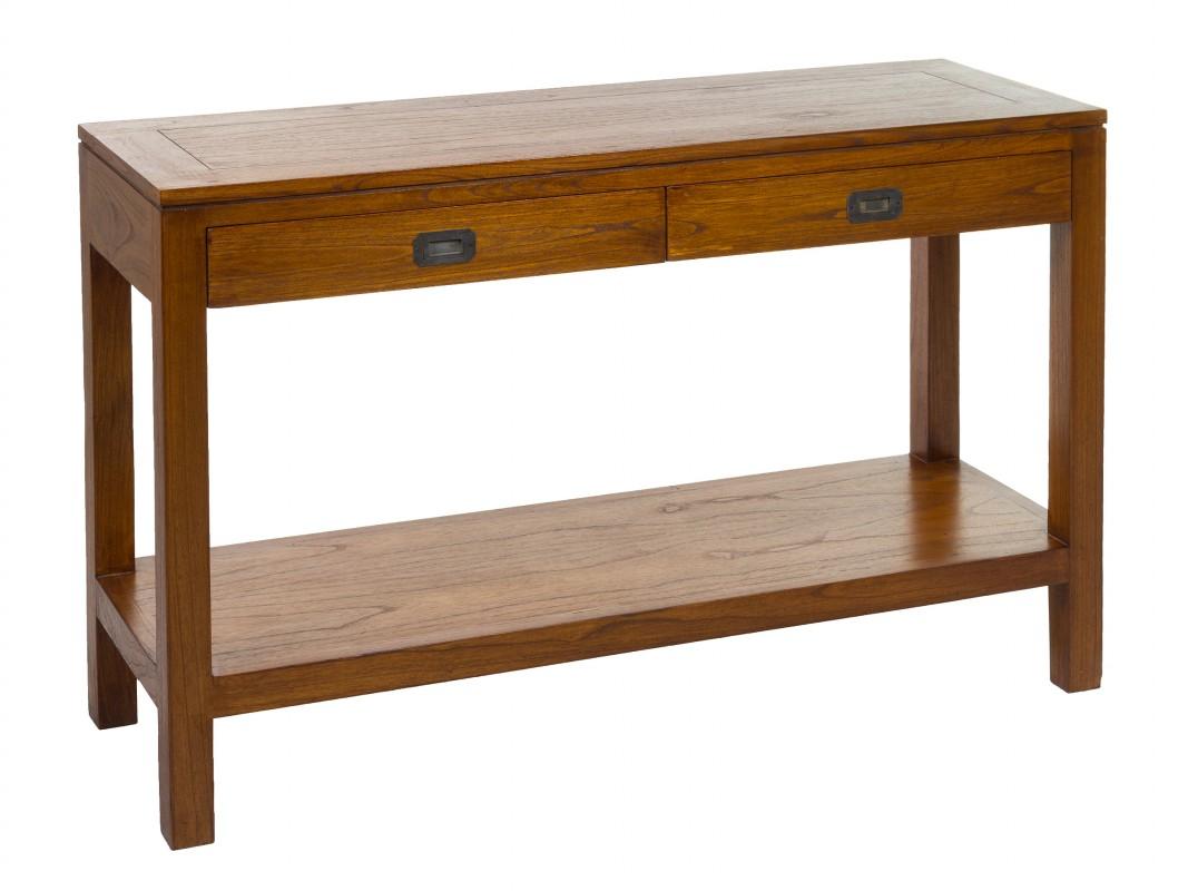 Consola colonial de madera maciza muebles de entrada - Portales de madera ...