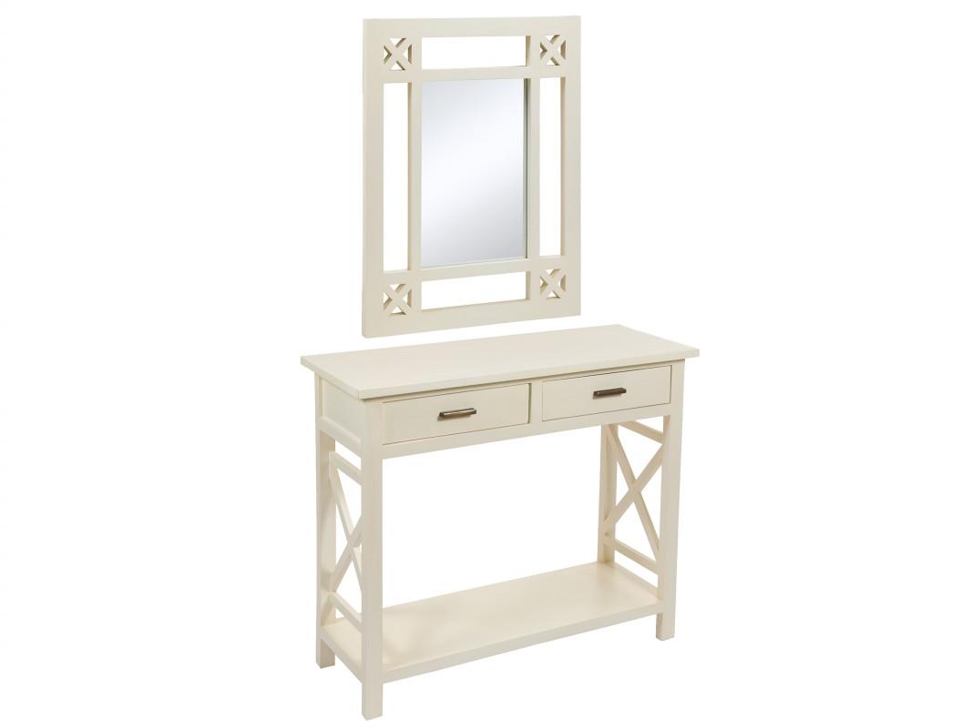 Consola entrada con espejo estilo n rdico muebles online for Espejos en la entrada de la casa