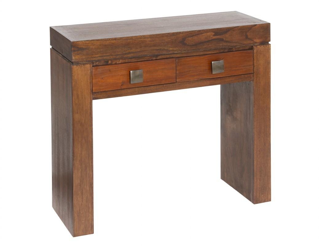 Consola de madera con 2 cajones de estilo colonial - Cajones de madera ...