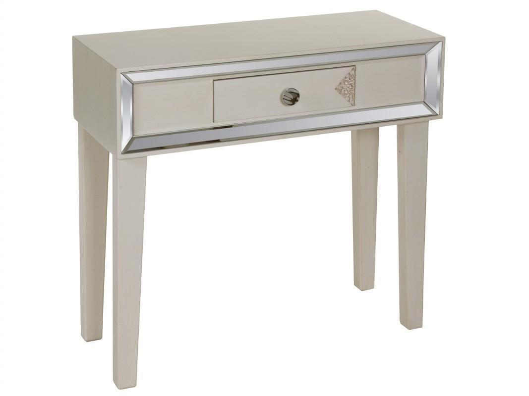 Mueble recibidor moderno de dm y madera de abeto color gris for Mueble recibidor 70 cm