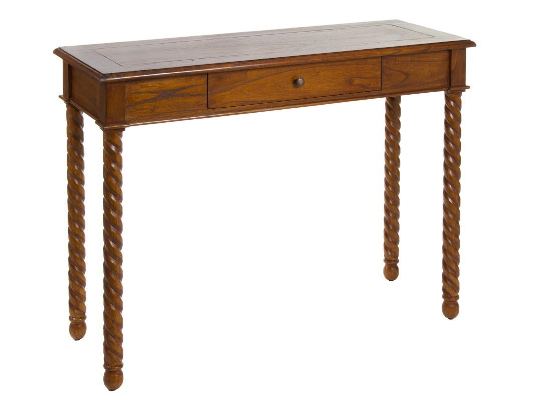 Consola colonial de madera de acacia con patas torneadas - Patas torneadas de madera ...