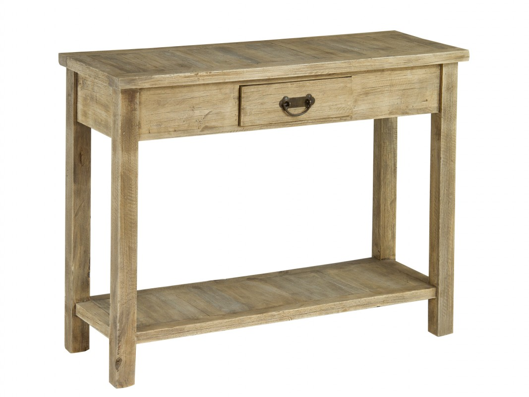 Mueble de entrada r stico de madera envejecida recibidor for Muebles vanitorios rusticos