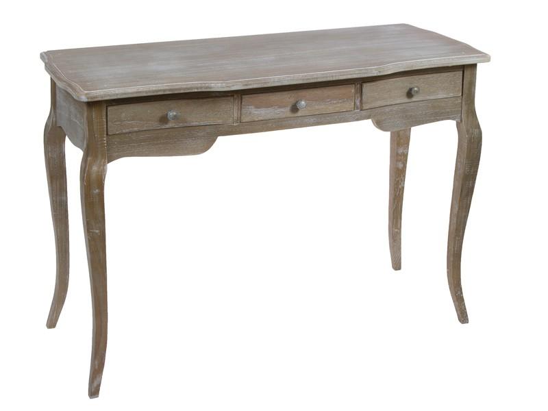 Recibidor clasico de madera decapada 3 cajones consolas - Muebles de entrada vintage ...