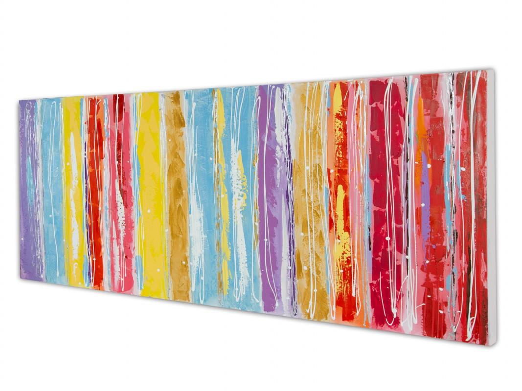 Cuadro horizontal abstracto colores cuadros decorativos - Cuadros de colores ...