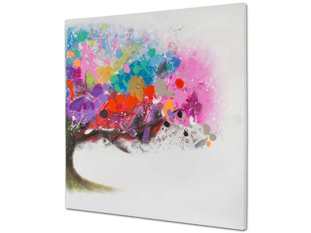Cuadro al leo de paisaje de colores cuadros decorativos - Cuadros de colores ...