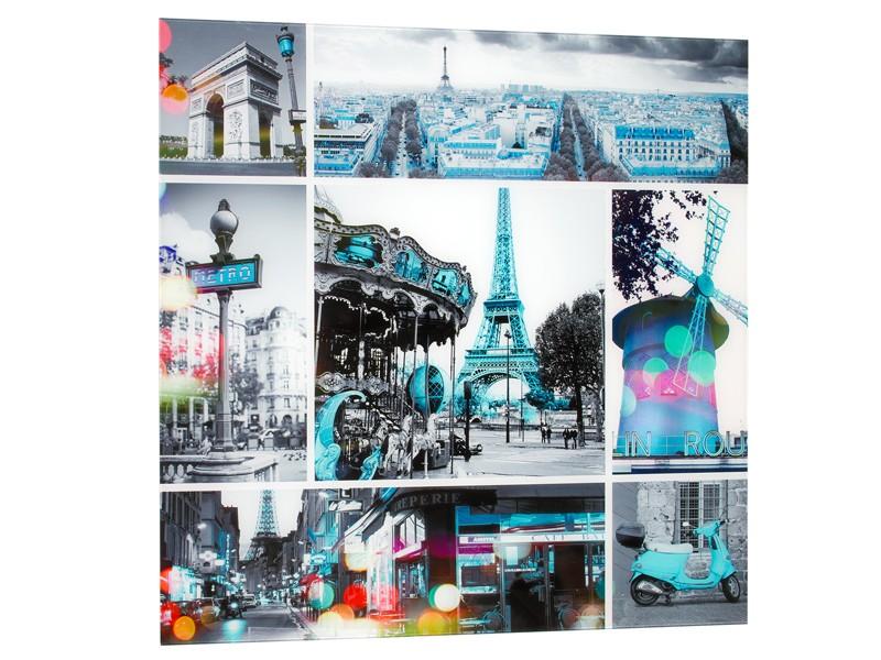 Cuadro par s digital sobre vidrio cuadros decorativos for Collage de cuadros