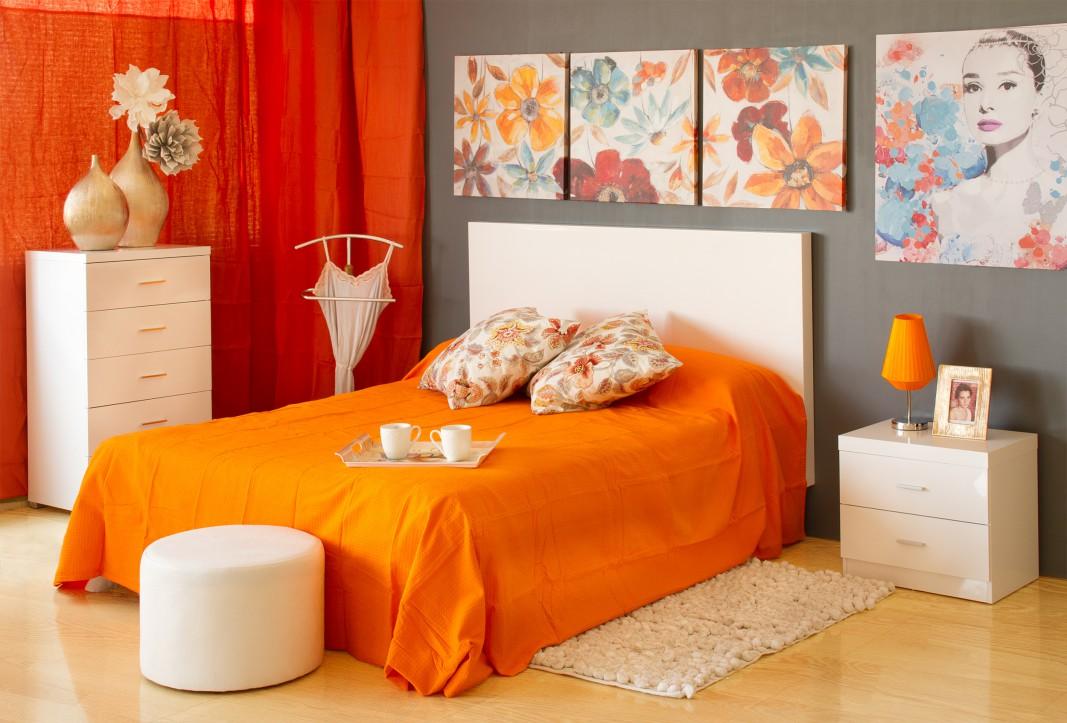 Mesa de noche blanca sin patas muebles de dormitorio - Mesas para dormitorio ...