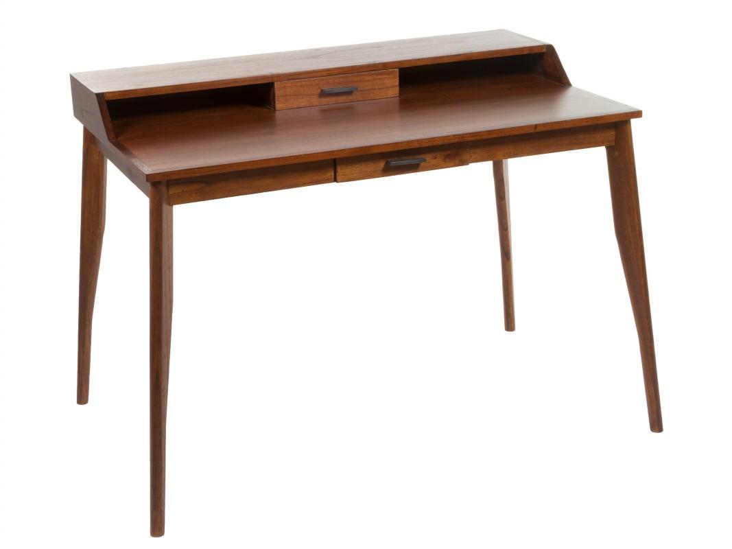 Escritorio cl sico colonial de madera de mindi con cajones - Mesa escritorio colonial ...