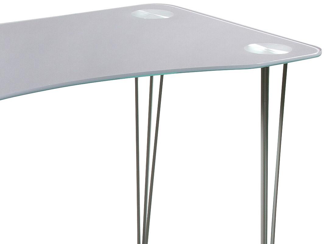 Mesa escritorio moderna de cristal y cromo ergon mica for Mesa escritorio moderna