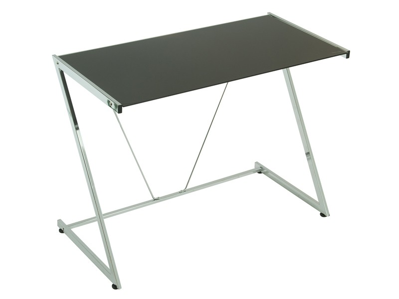 Mesa escritorio despacho 100 cm de cristal negro - Mesas de despacho de cristal ...