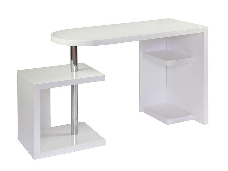 Escritorio modular para ordenador de dm blanco y aluminio for Diseno mesa ordenador