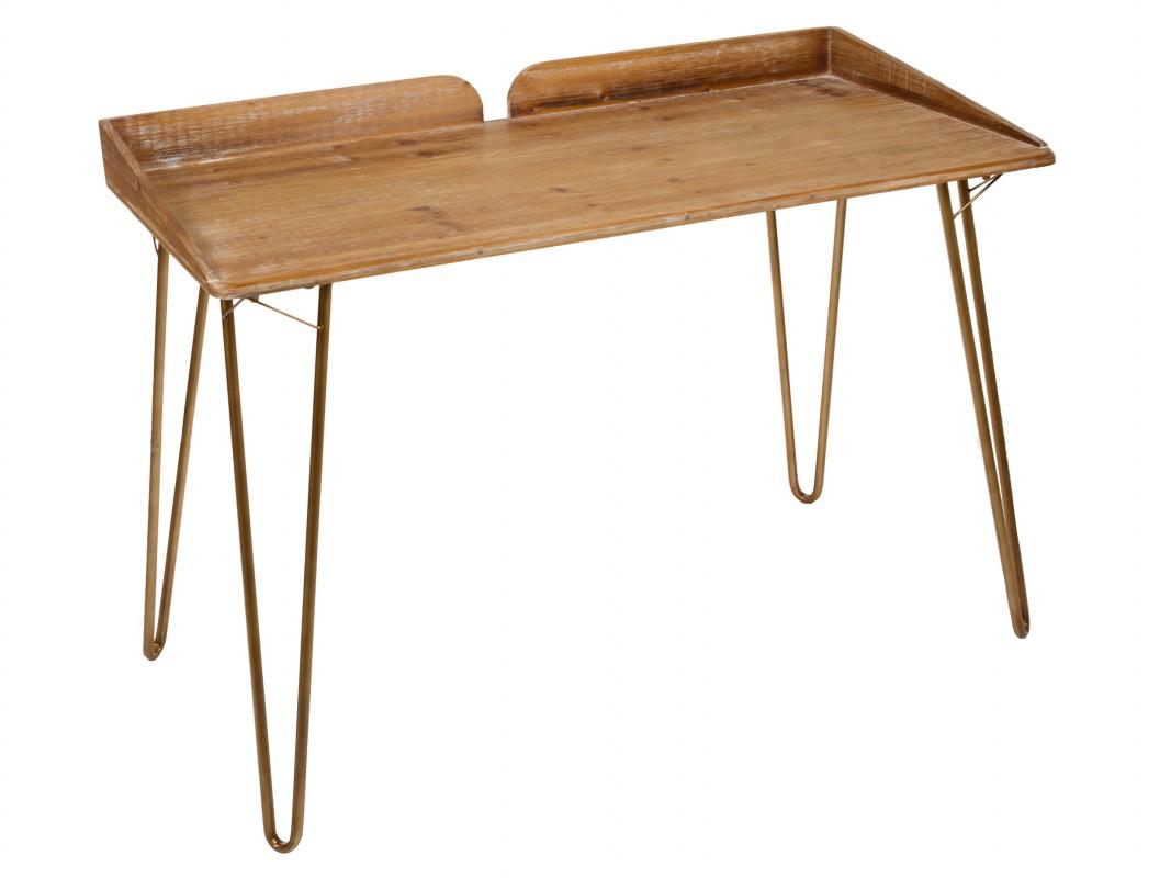 Escritorio retro industrial de madera y hierro con efecto for Escritorio industrial vintage