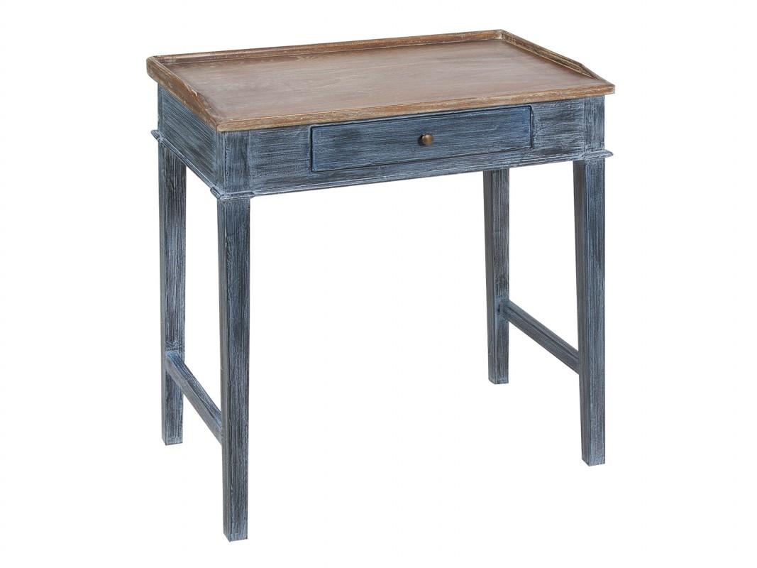 Mesita escritorio decapado estilo vintage con cajoncito - Escritorios rusticos de madera ...