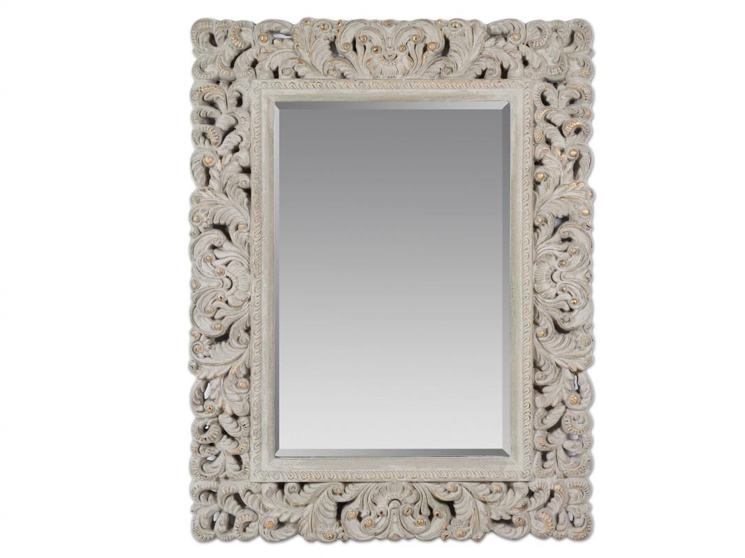 Espejo barroco vintage con marco de resina envejecido for Espejo envejecido