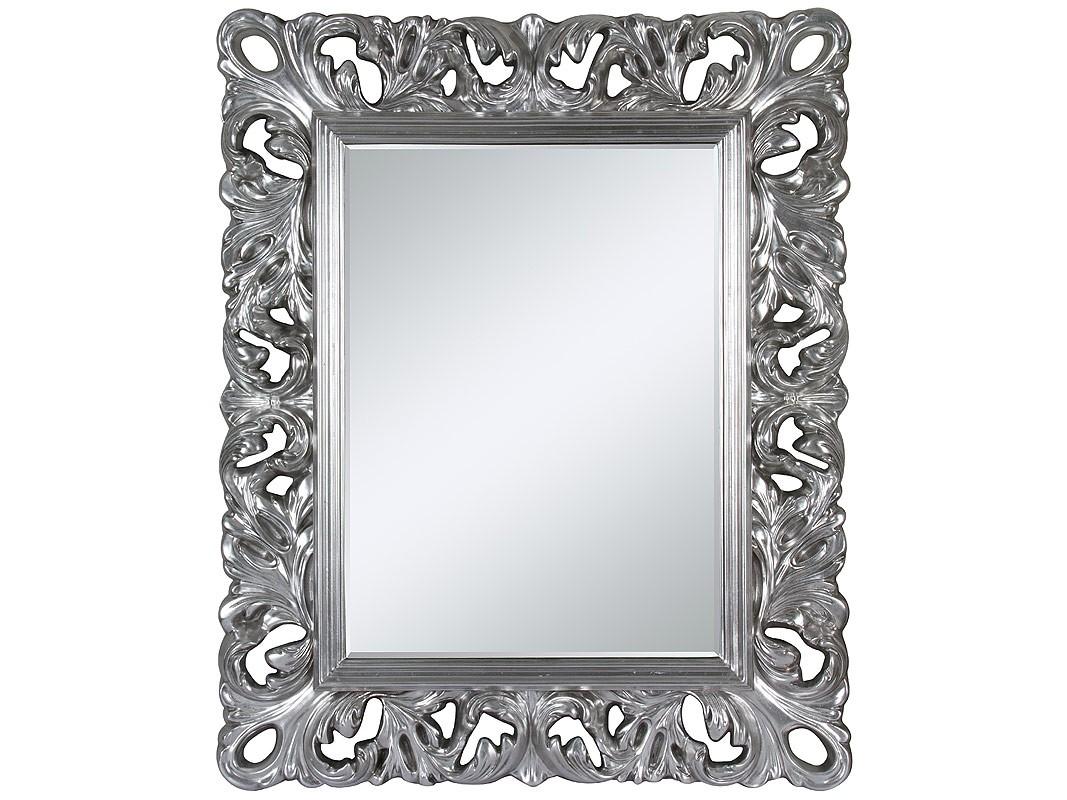 Espejo barroco con marco plateado de estilo se orial for Espejo plateado grande