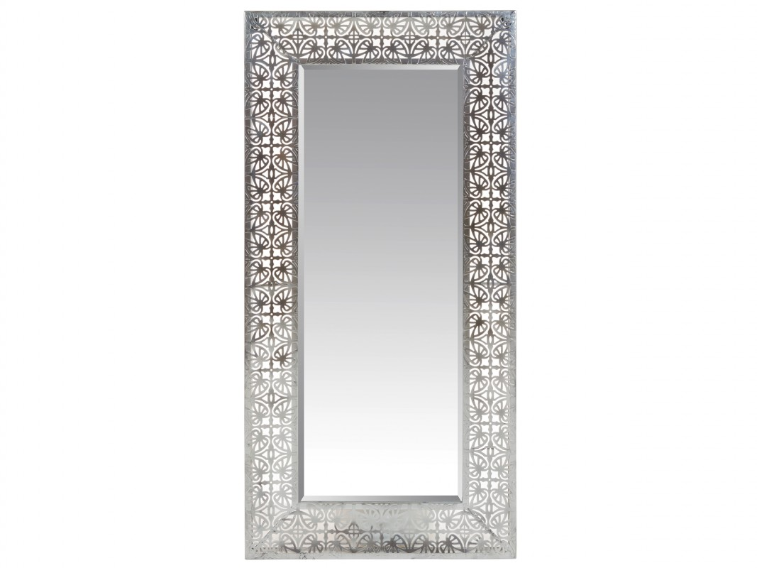 Espejo calado barroco plata 60x120 cm estilo vintage - Espejos marco plateado ...