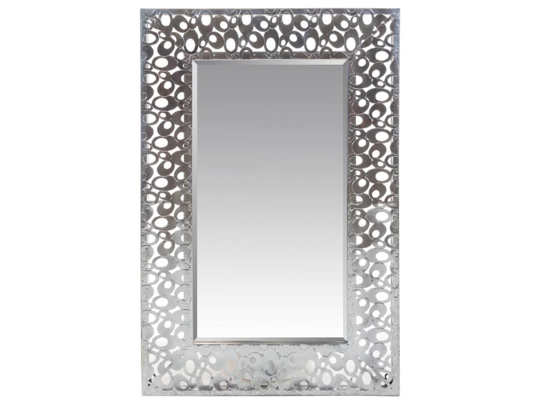Espejo barroco plateado 60x90 cm espejo marco decorado - Espejos color plata ...