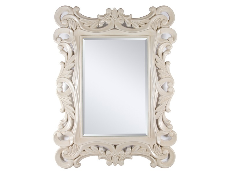 Espejo clasico blanco roto espejos decorativos online - Espejos de resina ...