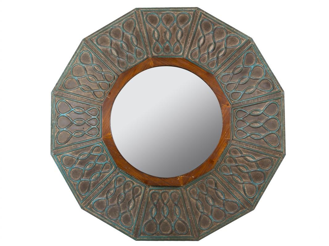 Espejo convexo vintage con acabado envejecido - Espejos retro