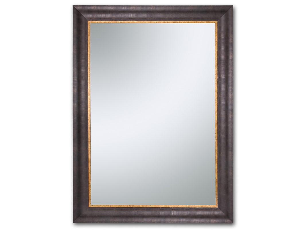 Espejo pared cl sico con marco de madera marr n - Espejos grandes para pared ...