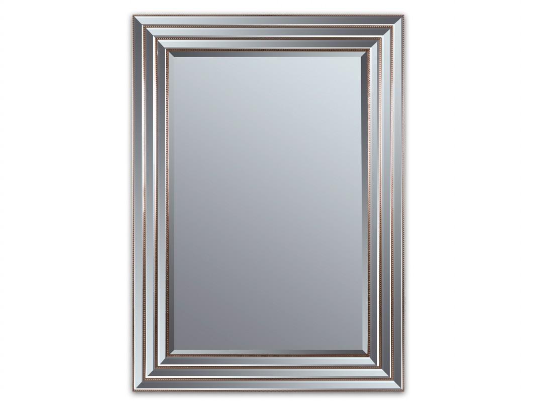 espejo con marco biselado y cord n dorado antiguo