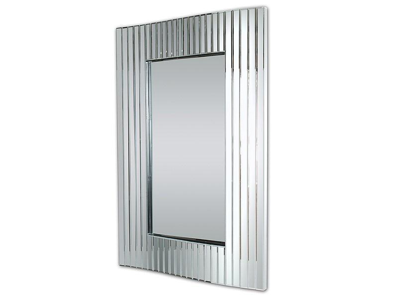 Espejo cristal marco rectangular l minas verticales for Espejo marco cristal