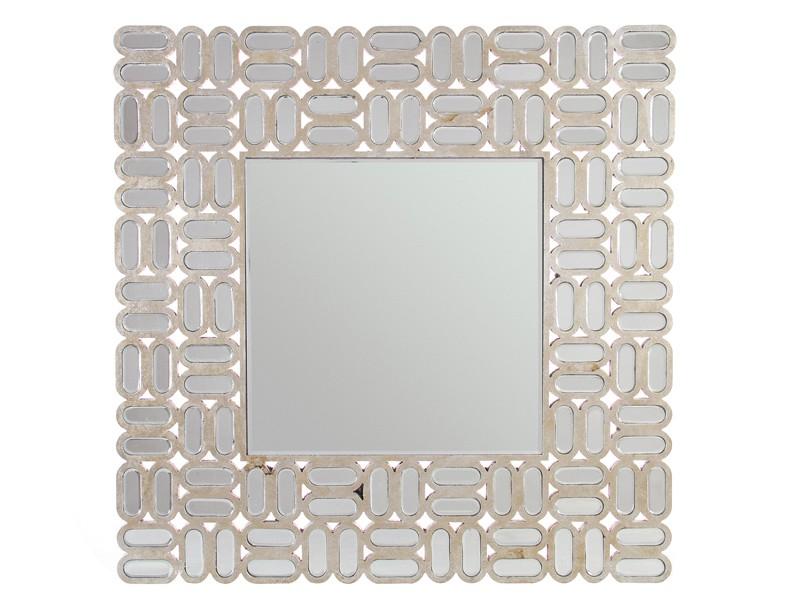 Espejo cuadrado con marco de figuras y cristales - Cristales y espejos ...