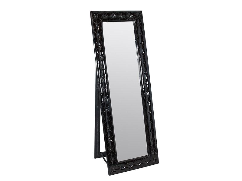 Espejo de pie cuerpo entero color negro cat logo espejos for Espejo cuerpo entero