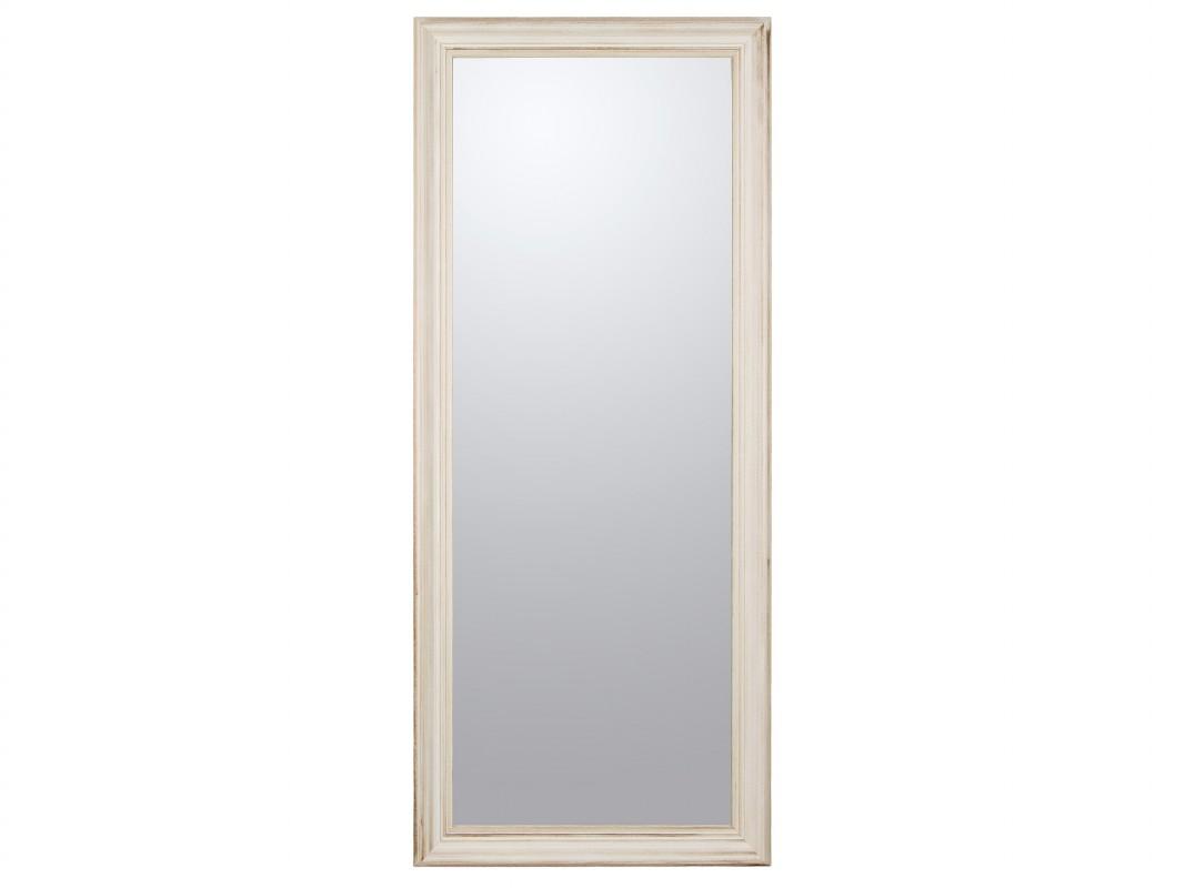 Espejo vestidor blanco roto decapado espejos online for Espejo pared cuerpo entero