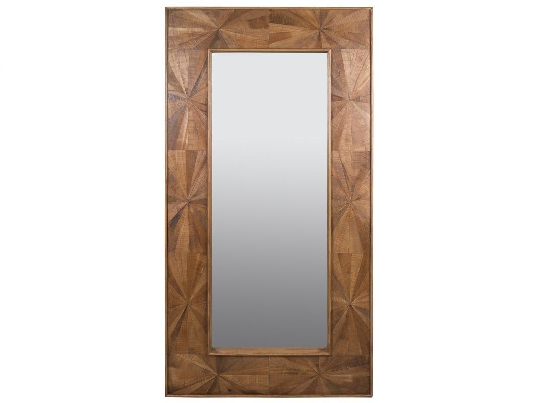 Espejo grande de madera maciza estilo r stico espejo for Disenos de marcos de madera para espejos