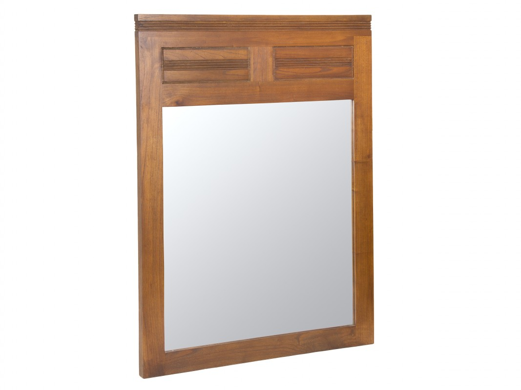 Espejo marco madera nogal estilo colonial para la pared
