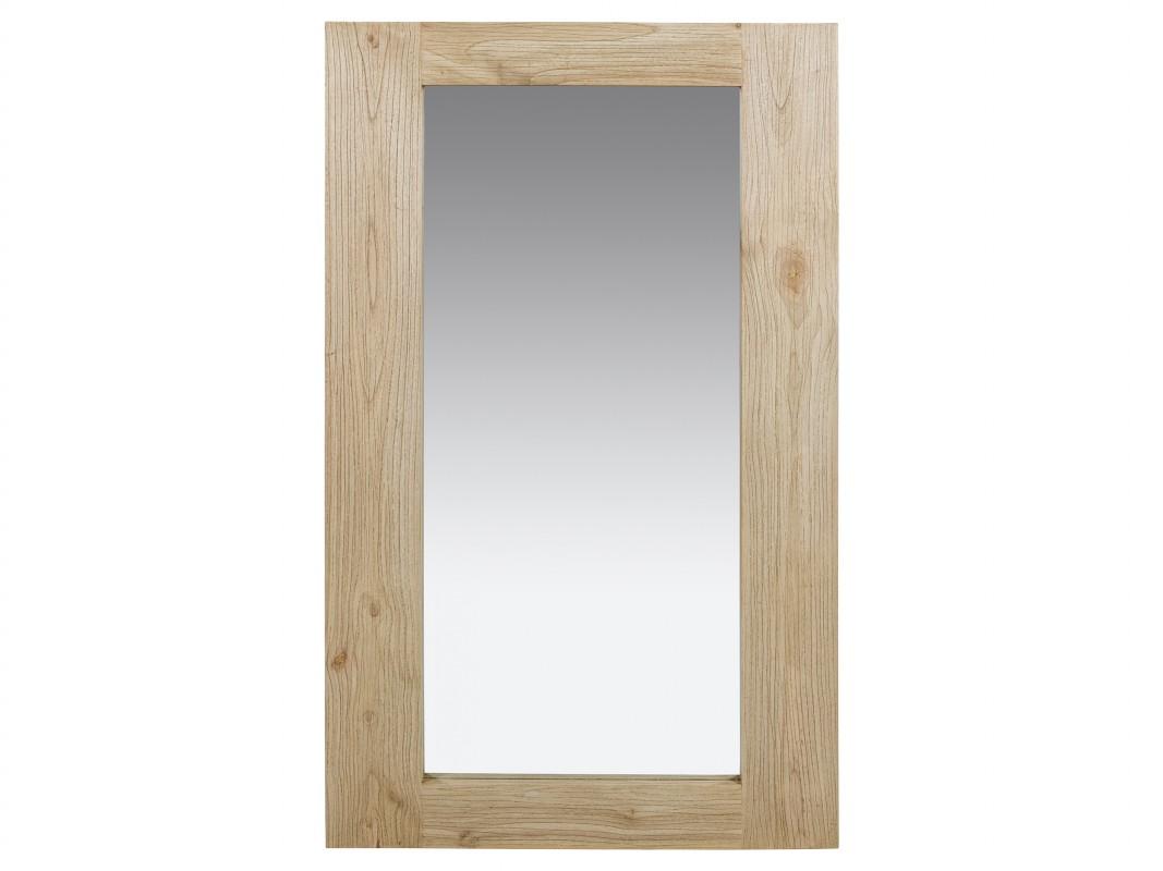 Espejo de madera natural envejecida estilo r stico en for Espejo madera envejecida