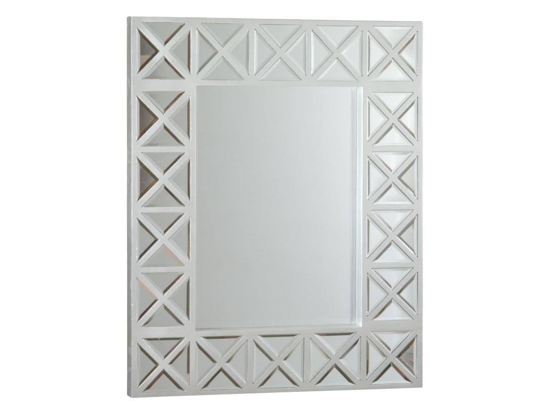 Espejo plata con marco de madera con crucetas venta online - Espejos marco plateado ...
