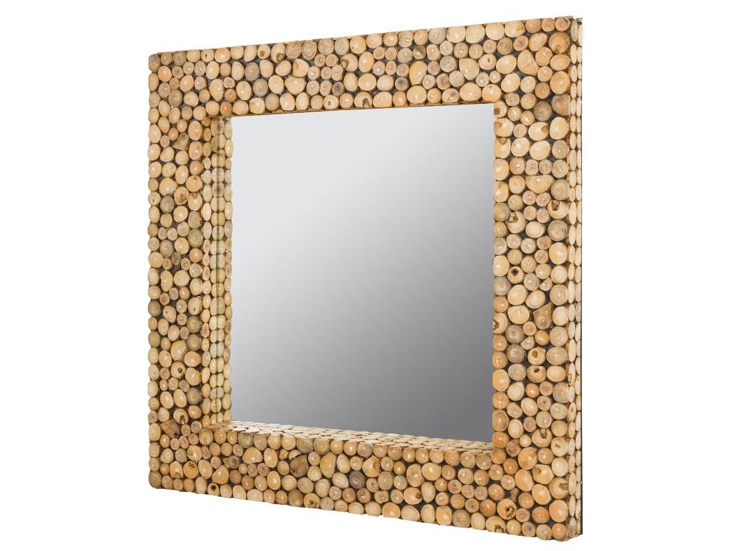 Espejo ramas de madera reciclada espejos de troncos for Espejos de madera vintage