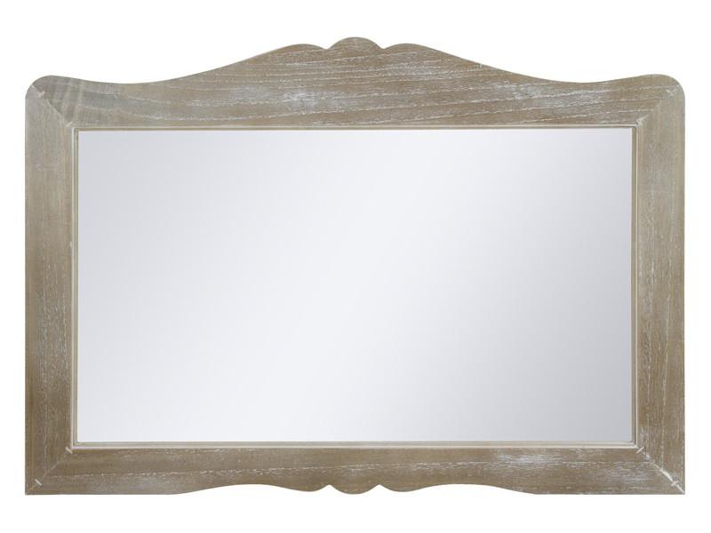 Espejo vintage grande con marco de madera decapada for Espejos de pared madera