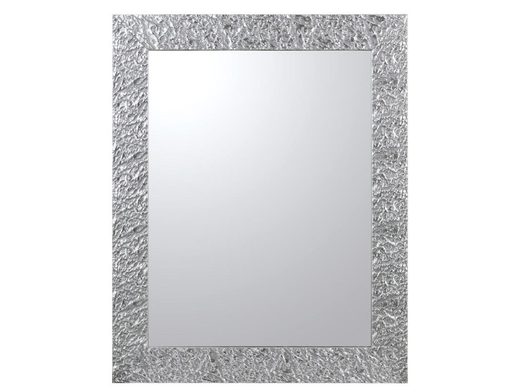 Espejo con marco de arrugas lacado en plata o cobre