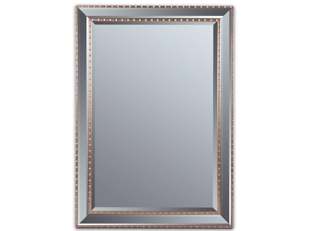 Espejo biselado con cord n dorado antiguo espejos online - Espejos marco plateado ...
