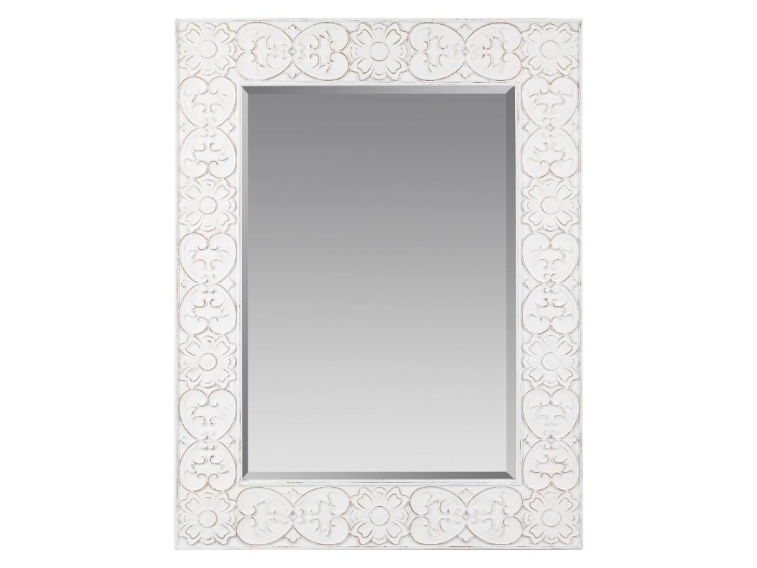 Espejo oriental con grabados florales para decorar la pared for Espejo grande blanco
