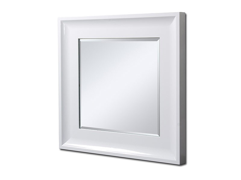 Espejo cuadrado con bisel y marco de madera de 66 cm - Espejos marco madera ...