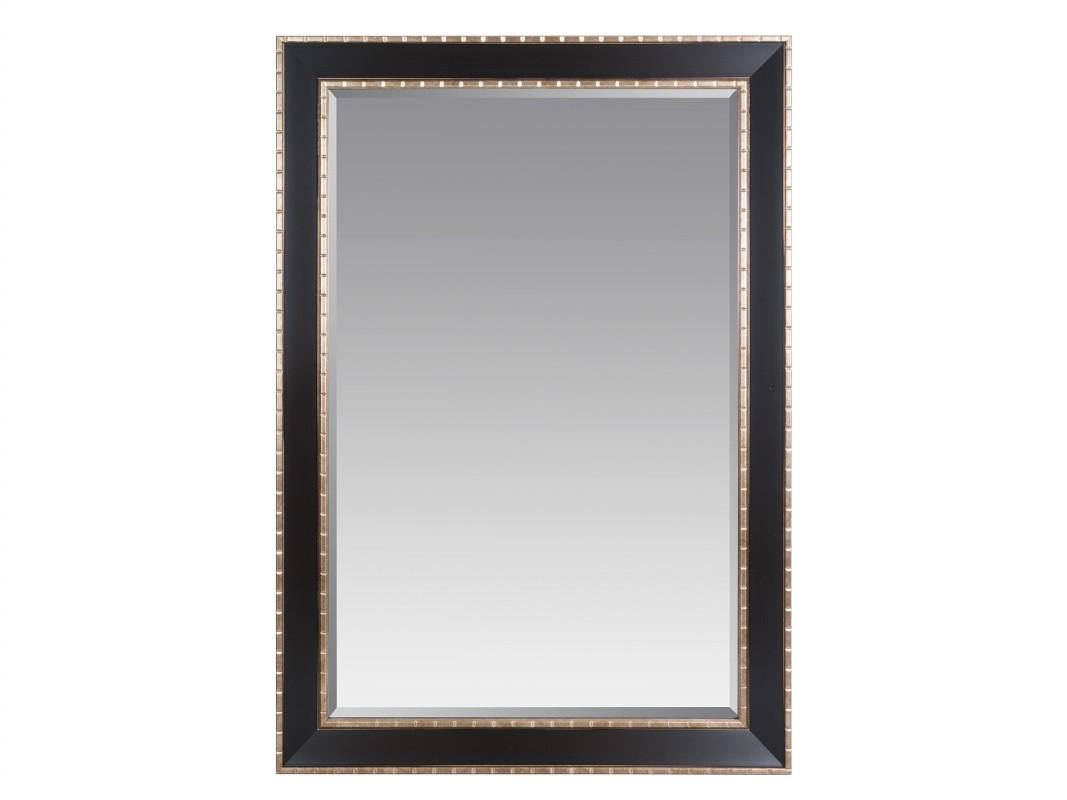 espejo marco negro y marr n envejecido con cristal biselado