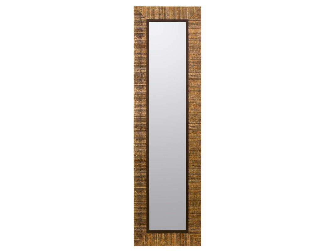 Espejo con marco dorado lacado de forma rectangular for Espejo rectangular con marco