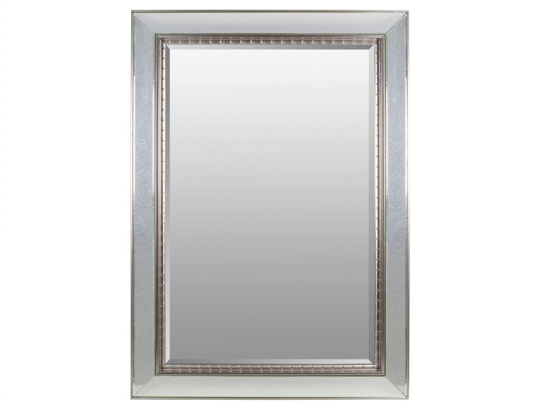 Espejo con marco plata efecto gotas de resina sint tica - Espejos marco plateado ...
