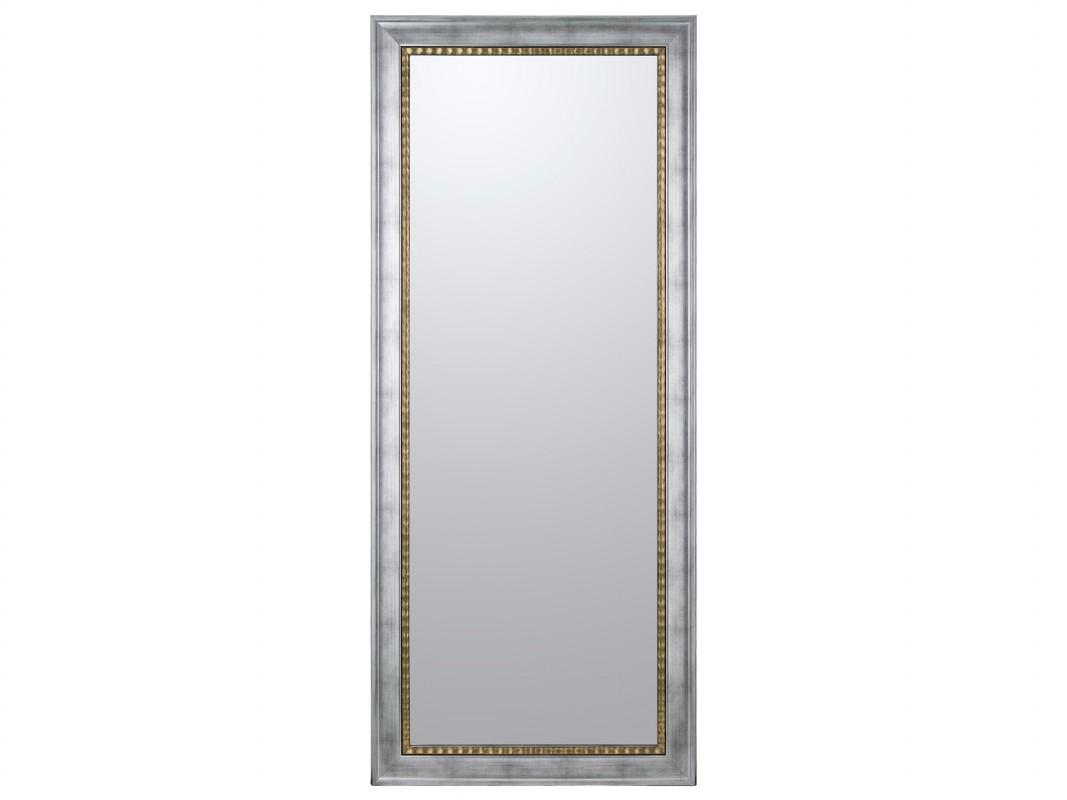 Espejo vestidor plata con filo dorado de madera de pino lacada