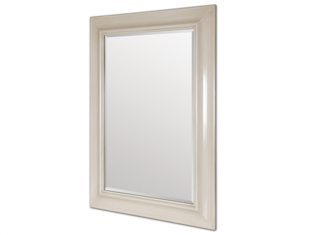Espejo De Resina Beige Rectangular Para Pared