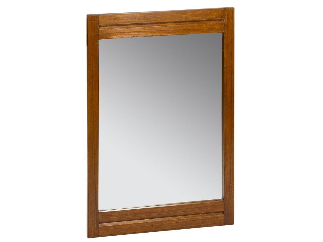 espejo nogal de madera para pared estilo colonial espejo