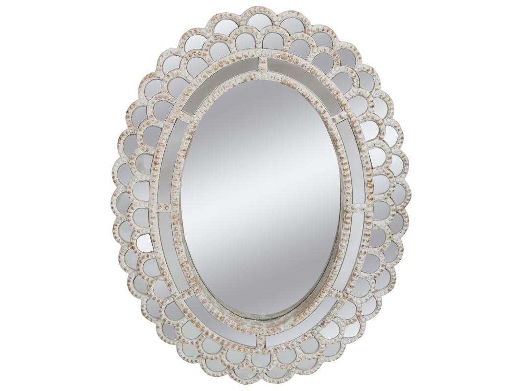 Espejo Ovalado Vintage De Madera Envejecida Venta Online