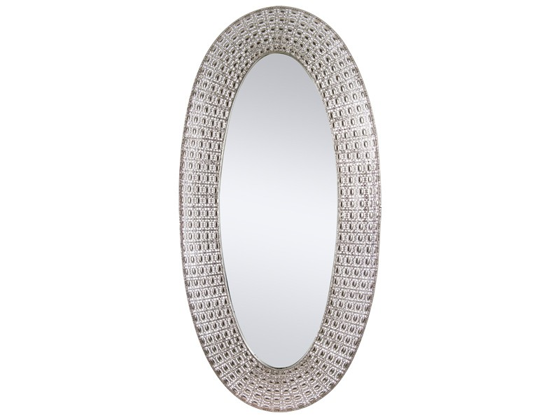 Espejo metal oval n quel 154 cm for Espejo ovalado plata