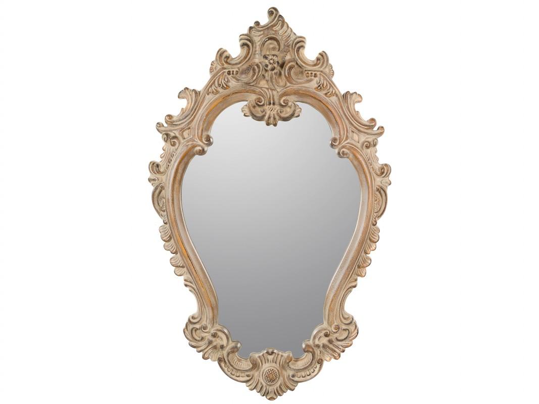 Espejo rococ vintage de resina color natural - Espejos de resina ...