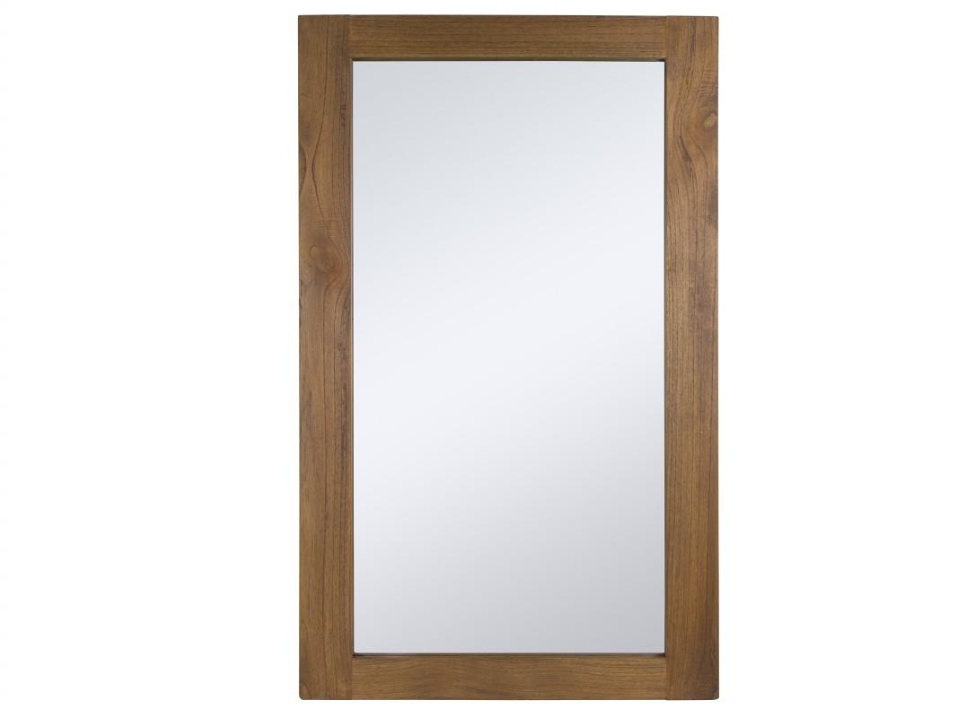 Espejo colonial de madera nogal espejos pared decorativos for Espejo pared madera